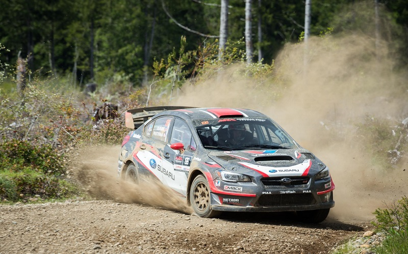 531653_Travis_Pastrana_and_codriver_Robbie_Durant_finished_2nd_to_teammate_Higgins_at_the_Olympus_Rally