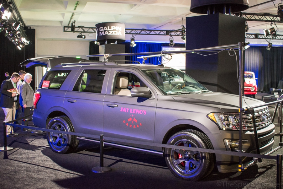 Viewers of Jay Leno's Garage will know he has dealings with Galpin, so it should come as no surprise that the dealer built Jay and his crew a custom Ford Expedition camera car.
