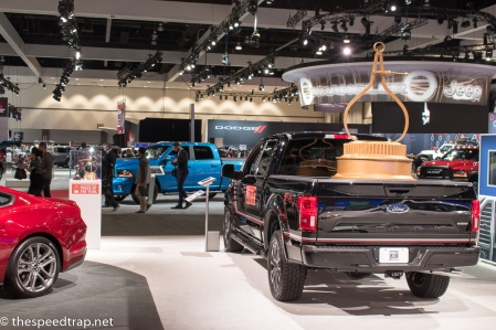 Ford, right across from RAM. Oh, what's this? I'll just leave my Truck of the Year trophy right here, no big deal...
